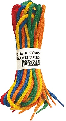 Miniland Educational Braided Cords 10 Units, Multicolor (31771)