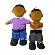 Miniland Educational Etni African-American Fastening Doll-Girl, Multicolor (96304)