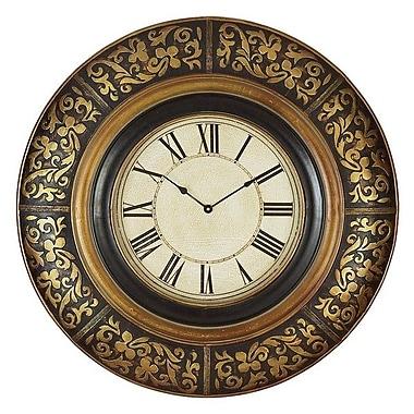 A nation 35 in. Black & Gold Wall Clock (ASPR365)