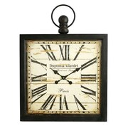 Aspire  Olivia Square Wall Clock, Gray (ASPR514)