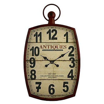 Aspire Annalise Pocket Watch Wall Clock, Red (ASPR528) 2394918