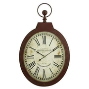 Aspire  Louis Oval Wall Clock, Red (ASPR537)