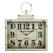 Aspire  Darcy Rectangular Wall Clock, White (ASPR548)