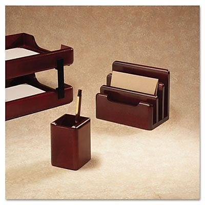 Rolodex Wood Tones Pencil Cup, Mahogany, 3.13 x 3.13 x 4.5 (AZERTY14816) 2393176