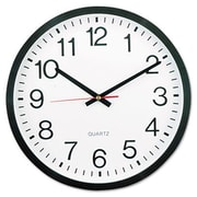 Universal  Round Wall Clock, 11.5 in., Black (AZERTY16046)