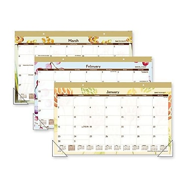 At-A-Glance SK91705 Watercolors Recycled Monthly Desk Pad Calendar, 17.75 x 10.88 (AZERTY16412)
