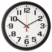 Chicago Lighthouse For The Blind  Bold Quartz Contract Clock, 13-3/4'', Black (AZERTY19686)