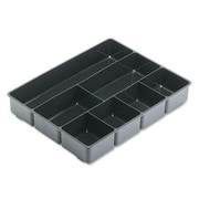 Rubbermaid Extra Deep Desk Drawer Director Tray Plastic Black (RUB11906ROS)