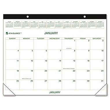 At-A-Glance GG250000 Two-Color Monthly Desk Pad/Wall Calendar 22