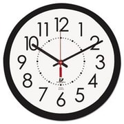 Chicago Lighthouse For The Blind  14.5 in. Electric Contemporary Clock, Black (AZTY03324)