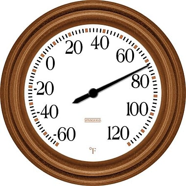 Springfield Precision Springfield 8.5 in. Decorative thermometer Bronze (BFG1600)
