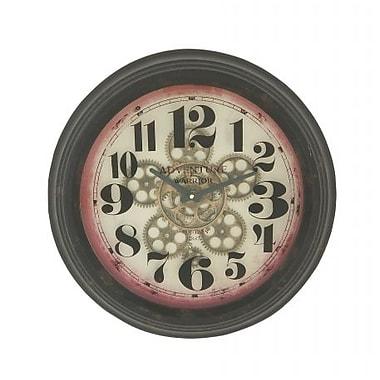 Benzara Stunning Round Metal Wall Clock (BNZ10852)