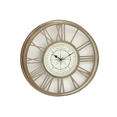 Benzara Brass Wall Clock - 21 in. D (BNZ13165)