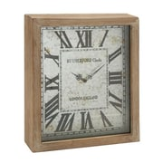 Benzara  Rectangular Wood Wall Clock (BNZ6900)