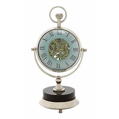 Benzara Exquisite Brass Nickel Table Clock (BNZ8840)