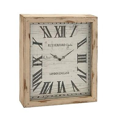 Benzara Timelessly Rustic Wood Wall Clock (BNZ9752)