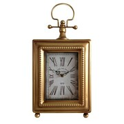 Cheungs  Classic Gold Rectangle Table Clock (CNGR1081)