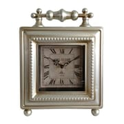 Cheungs  Classic Silver Square Table Clock (CNGR1084)