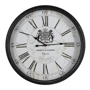 Cooper Classics  Wellesley Engineered Wood Wall Decor Clock With Under Glass Face (COOP891)