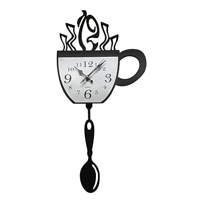 Creative Motion Acrylic Clock with Cup Design and Pendulum (CRML157) 2394544