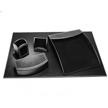 Dacasso Faux Leather Office Organizing Desk Set (DCSS491)