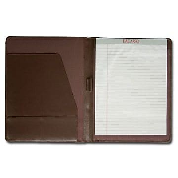 Dacasso Leather Standard Padfolio - Chocolate Brown (DCSS503)