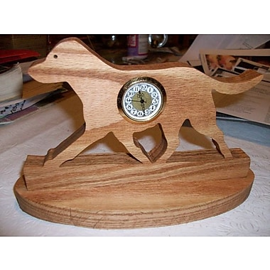 Fine Crafts Wooden Cheseapeake Bay Retriever mini desk clock (FNCRF241)