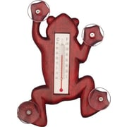 Songbird Essentials Climbing Stained Frog Small Window Thermometer (GC16845)