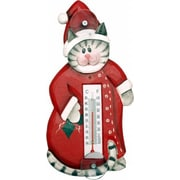 Songbird Essentials Holiday Cat in Pajamas Small Window Thermometer (GC16936)