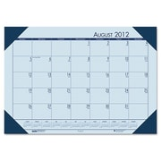 House of Doolittle  Desk Pad  Blue Hldr-Blu Paper (HSODL002)