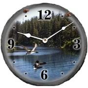 Morco  10 in. Loons Slate Clock (HTAM010)
