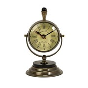 Home Decor Improvements  Soren Brass Table Clock (IMAX1214)