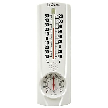 Lacrosse Technology 8.75 in. Tube Thermometer With Hygrometer & Key Hider (JNSN68426)