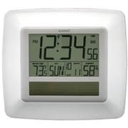 La Crosse Technology  Solar Atomic Digital Wall Clock With Indoor Temp-Humidity-White (LA748)