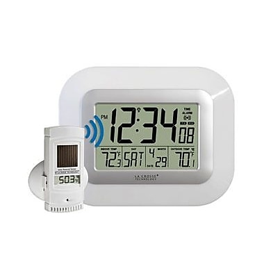 La Crosse Technology Solar Powered Atomic Digital Wall Clock (LA857)