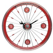 Maples  Bike Wall Clock - With Red Aluminum Rim (MPLS032)