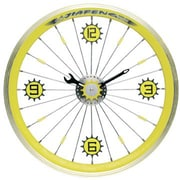 Maples  Bike Wall Clock - With Yellow Aluminum Rim (MPLS033)