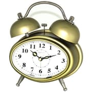 Maples Clock  Oval Double Bell Table Alarm Clock - Gold (MPLS100)