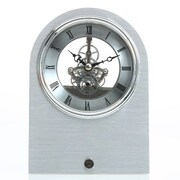 Maples Clock  Skeleton Aluminum Table Clock (MPLS188)