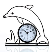 Maples Clock  Dolphin Silhouette Table Clock (MPLS193)