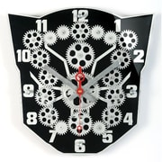 Maples Clock  13 in. Moving Gear Wall Clock with Black Plexy Dial (MPLS198)