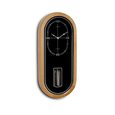 Opal Luxury Time Products Unique Shaped Wooden Cylindrical Pendulum Clock (OPLX066)