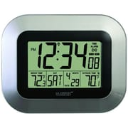 La Crosse Technology  Atomic Digital Wall Clock With Indoor & Outdoor Temperature (PELCRWS8115US)