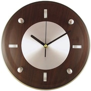 Timekeeper  11 in. Round Wall Clock - Espresso Brown (PETRA13324)
