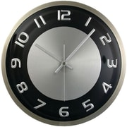 Timekeeper  11.5 in. Round Wall Clock with Brushed Metal Case (PETRA13328)