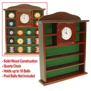 Ball Holder Quartz Clock with Solid Wood (POKER13409)