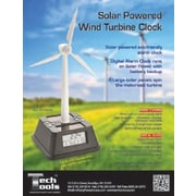 Princess International  Solar Powered Wind Turbine Alarm Clock (prn009)