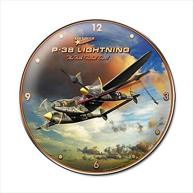 Past Time Signs Lightning Aviation Clock (PSTMS1815)