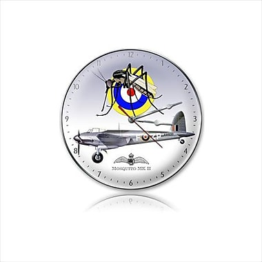 Past Time Signs Mosquito Mkii Aviation Clock (PSTMS406)