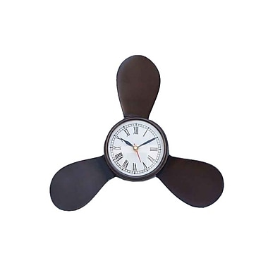 Handcrafted Model Ships Antique Copper Decorative Ships Propeller Clock - 12 in. (RTL346811)